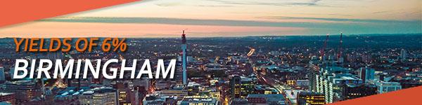Birmingham, high rental yields of 6%